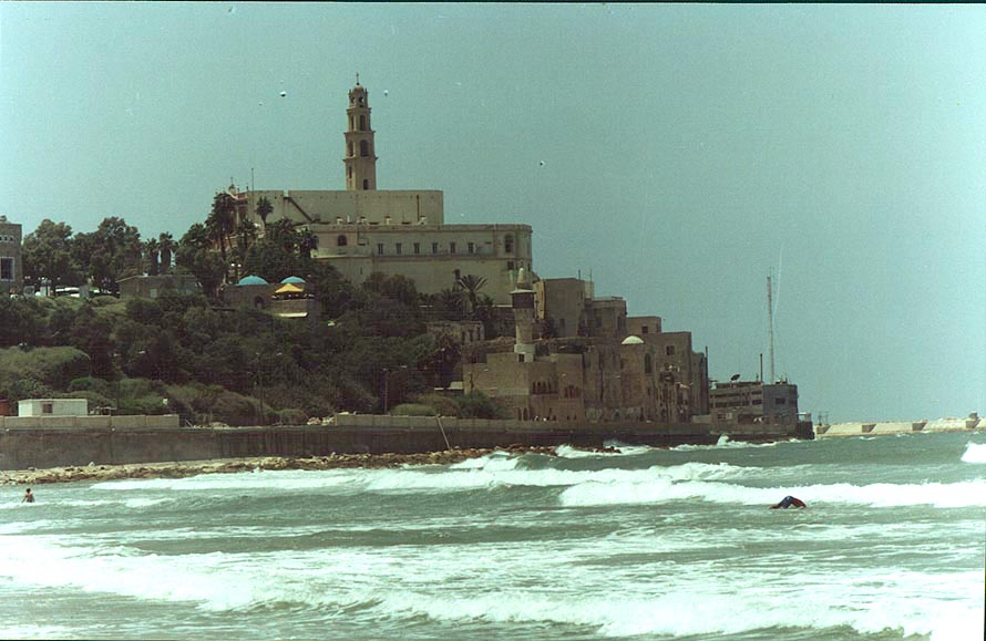View of Jaffa from Tel Aviv beach. The Middle East