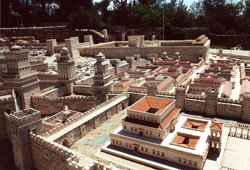 1/50th scale model of Herod's temple at Holyland...Herod's palace. The Middle East