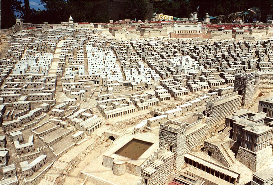 1/50th scale model of Herod's temple at Holyland...The City of David . The Middle East