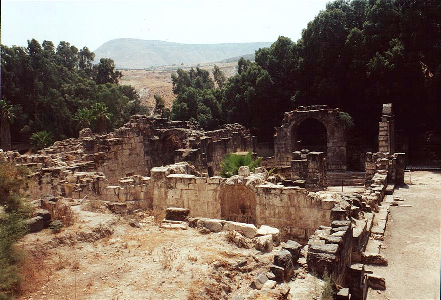 Roman bathes in Hamat Gader. The Middle East