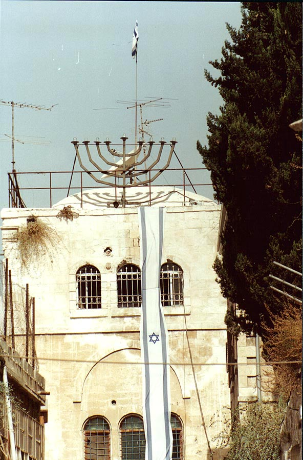 A building on El-Wadi Rd. in Old City of Jerusalem. The Middle East