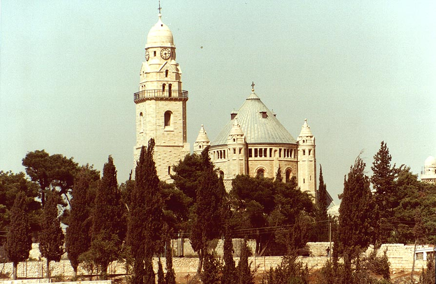Dormition Church on Mount Zion in Jerusalem. The Middle East