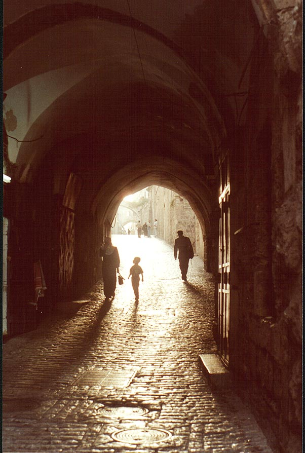 Lion's Gate Rd. in Arab Quarter of Old City of Jerusalem. The Middle East