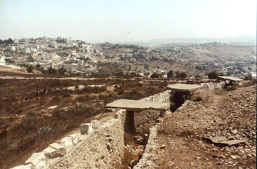 View of Tsur Bahir and Umm Tuba villages behind...Rahel. Jerusalem, the Middle East