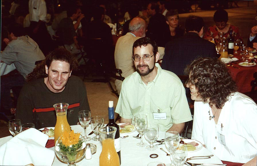 U. Peskin, ..., B. Segev at a final dinner of...Collisions. Jerusalem, the Middle East