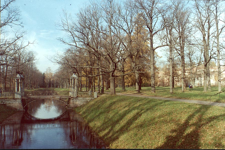 A canal in Alexandrovskiy Park of Pushkin (former...tsars). Near Sankt Petersburg, Russia