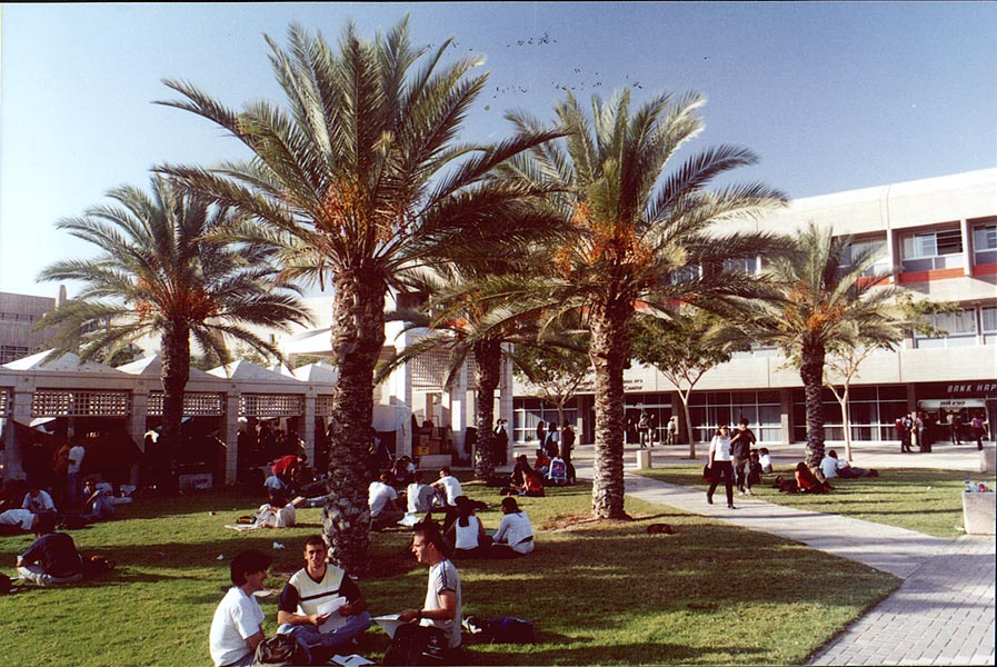 In front of Student Center of BGU. Beer-Sheva, the Middle East