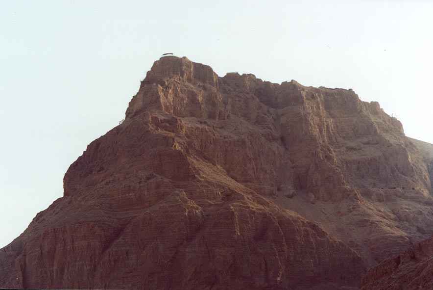View of Masada Fortress from the north. The Middle East
