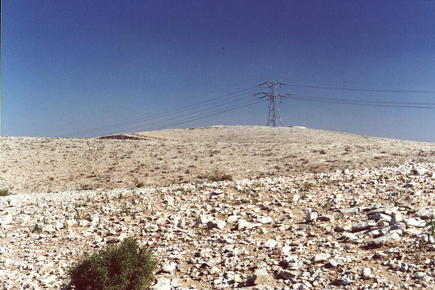 A hill in Negev Desert near Ramot neighborhood in northern Beer-Sheva. The Middle East