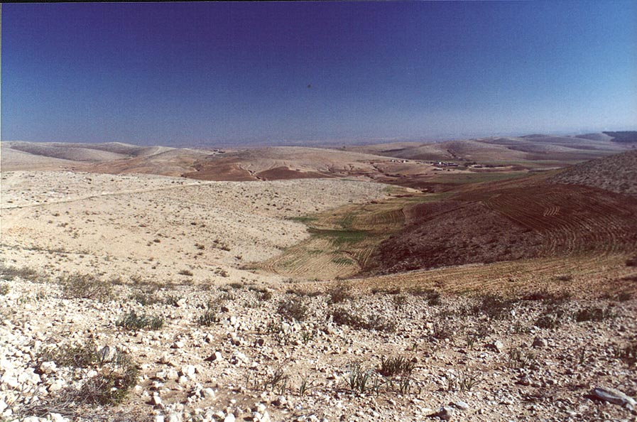 Hills in Negev Desert 2 miles north from Beer-Sheva. The Middle East