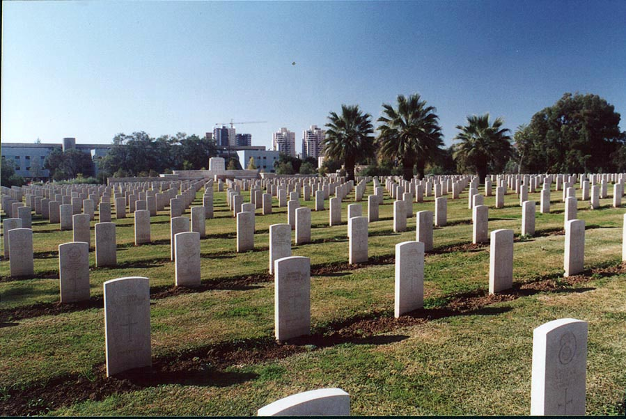 British Army World War I cemetery in Beer-Sheva. The Middle East