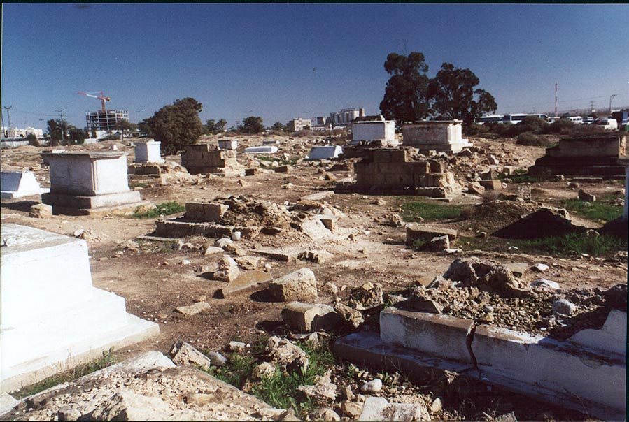 Abandoned Moslem Cemetery in downtown Beer-Sheva. The Middle East