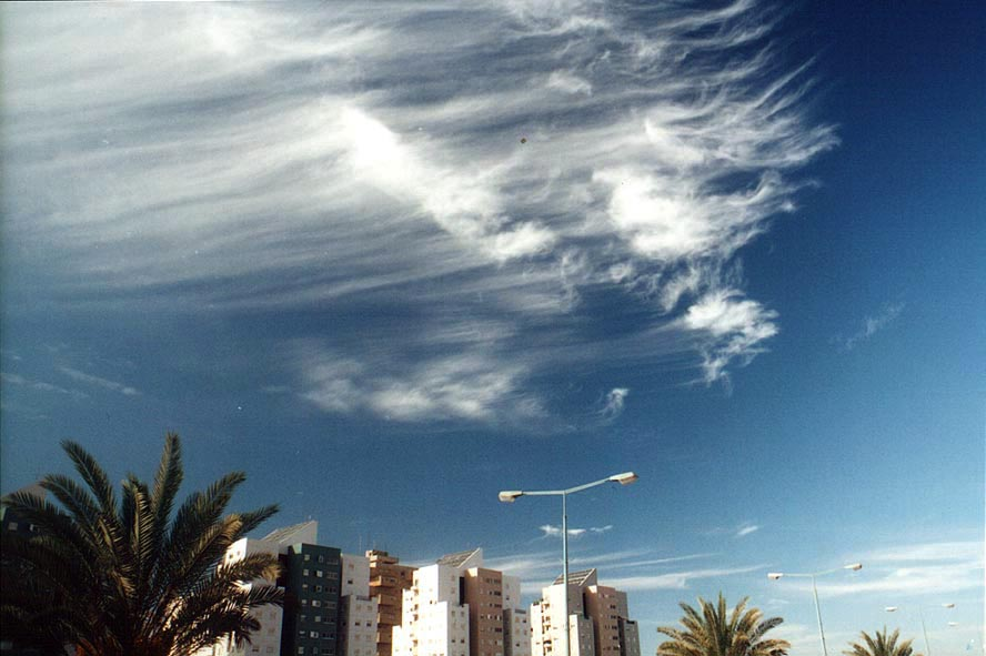 Clouds over new houses at Itzhak Rager Rd.. Beer-Sheva, the Middle East