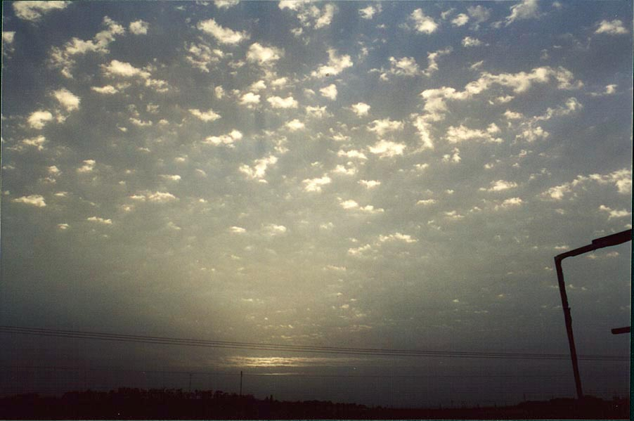 Sunrise, view from a highway near Ashkelon. The Middle East