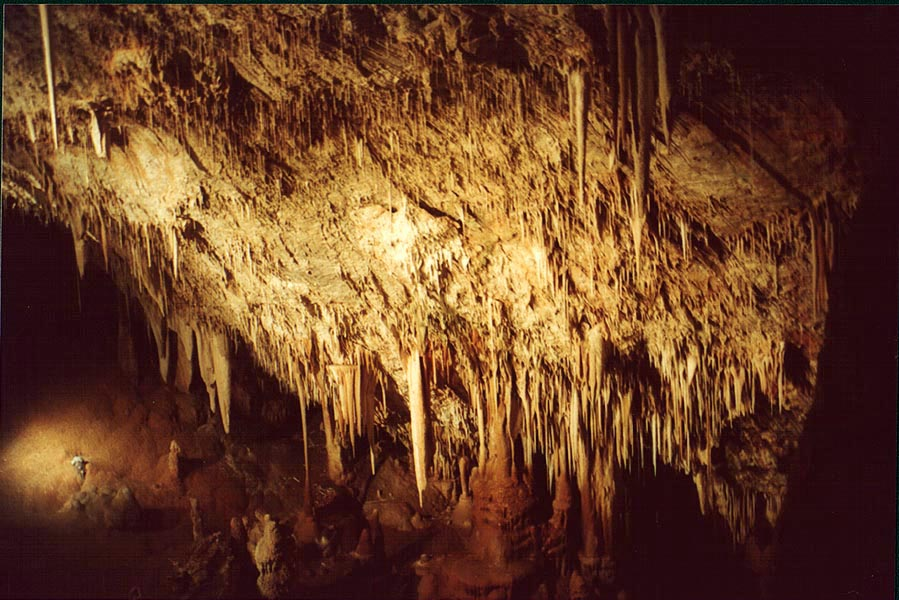 Stalactites in Sorek Cave, west from Jerusalem. The Middle East