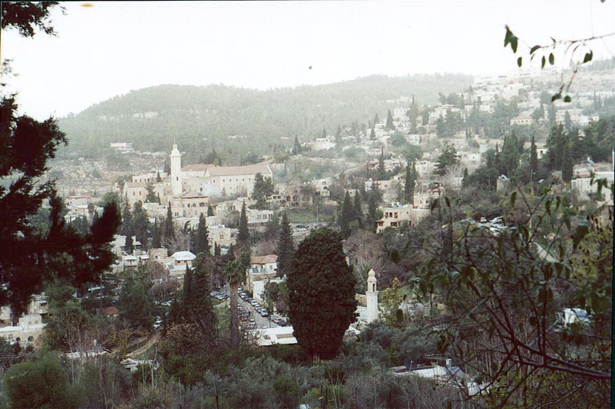 Ein Kerem, a suburb of Jerusalem captured in 1948...bottom of the picture. The Middle East