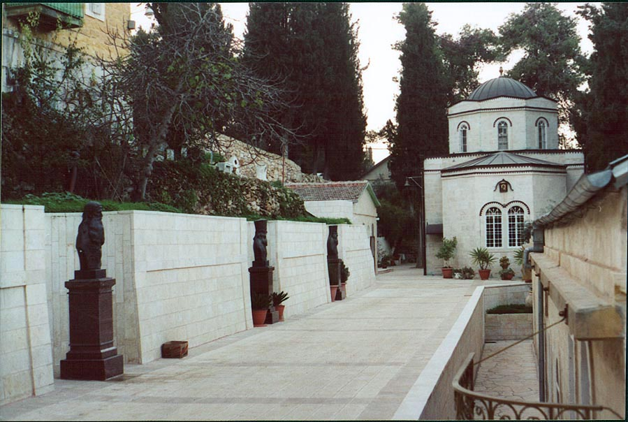 A church yard in Gornensky Convent for women (the...western Jerusalem), the Middle East