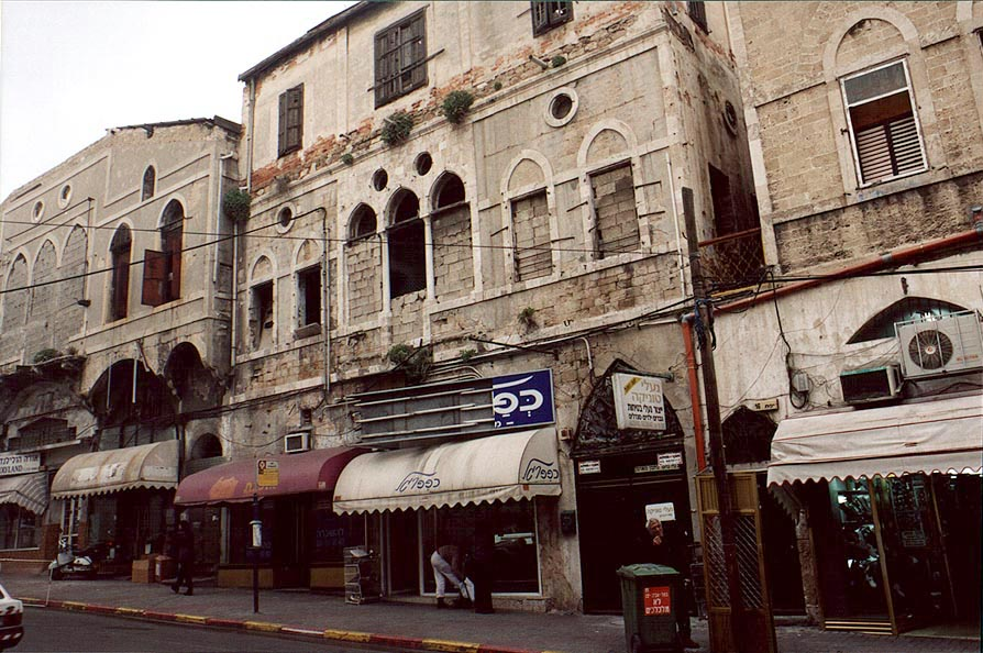 Tourist shops at Yefet St.. Jaffa, the Middle East