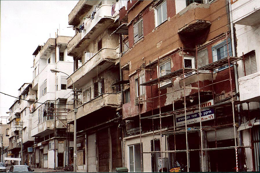 Earliest houses in Tel Aviv on Derekh Yafo St.. The Middle East