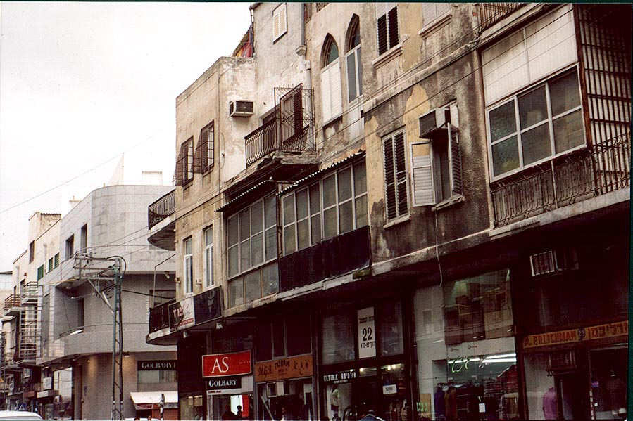 Earlier Tel Aviv architecture of Derekh Yafo St.. The Middle East