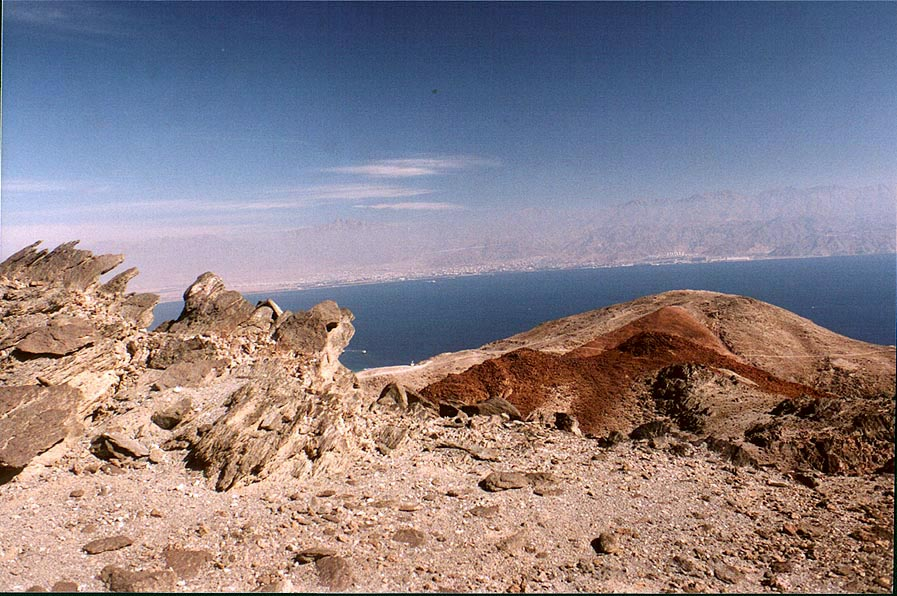 Red Sea and small mountains near Coral Beach, 3...south-east from Eilat. The Middle East