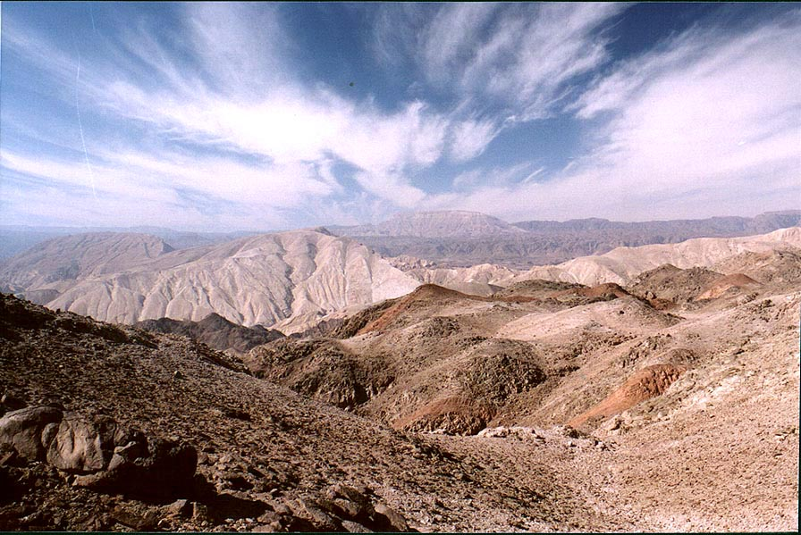Mountains in Egypt near Taba, 3 miles south-east from Eilat. The Middle East