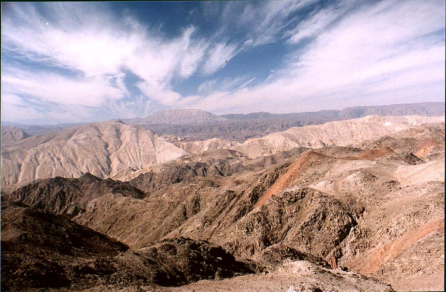 Egyptian mountains near Taba, 3 miles south-east from Eilat. The Middle East
