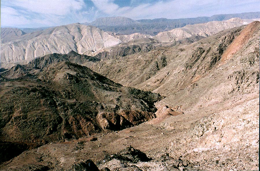 Mountains near Taba, 3 miles south-east from Eilat. The Middle East