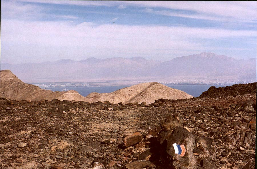 A trail near Egyptian border near Taba, 3 miles south-east from Eilat. The Middle East