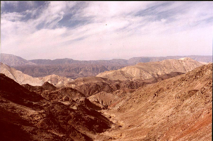 Mountains on Egyptian border near Taba, 3 miles south-east from Eilat. The Middle East