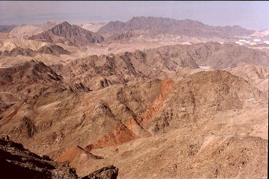 View to the north from Mount Tzefahot, near Coral...south-east from Eilat. The Middle East