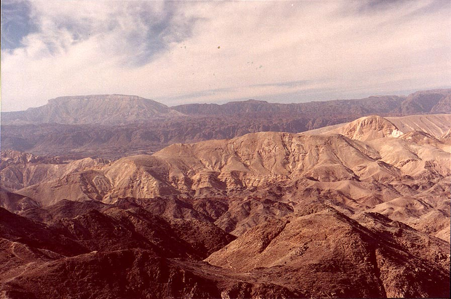 View to the west (Egypt) from Mount Tzefahot...south-east from Eilat. The Middle East