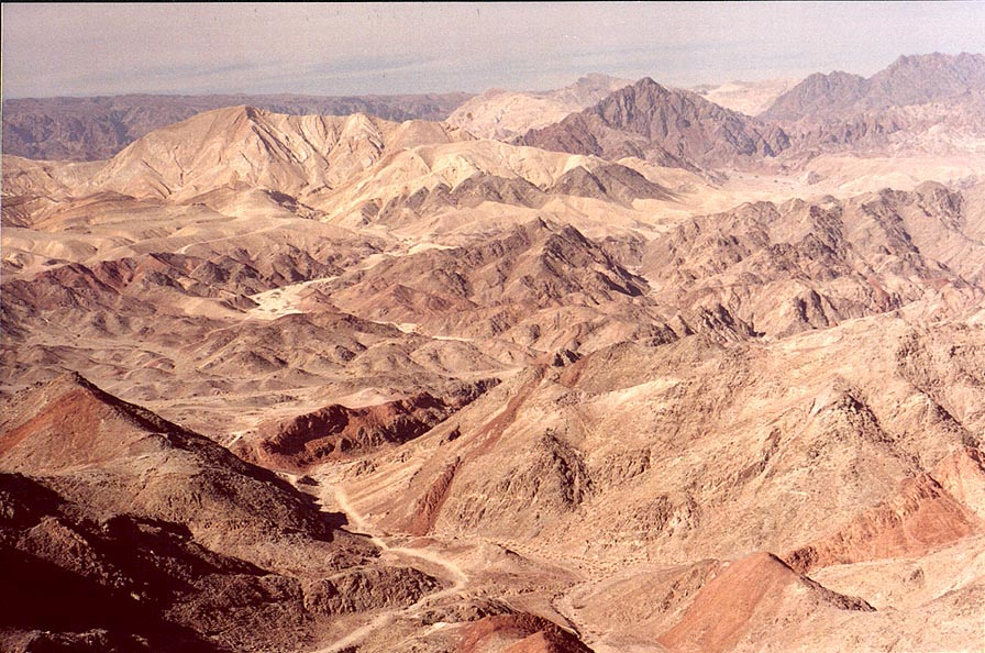A trail going north from Mount Tzefahot, near...south-east from Eilat. The Middle East