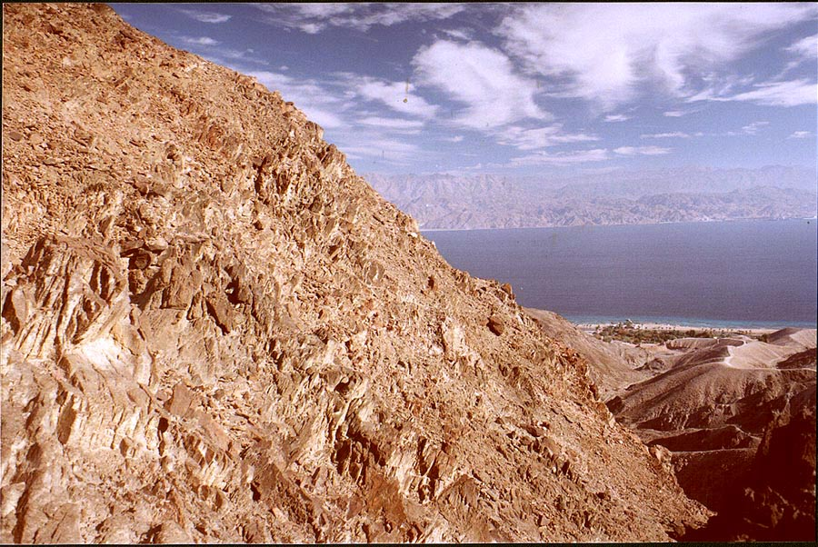 Mountains near Coral Beach, 3 miles south-east from Eilat. The Middle East