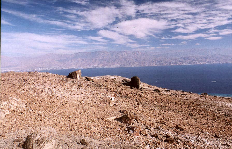 Remains of feldspar mines mined by a British...south-east from Eilat. The Middle East
