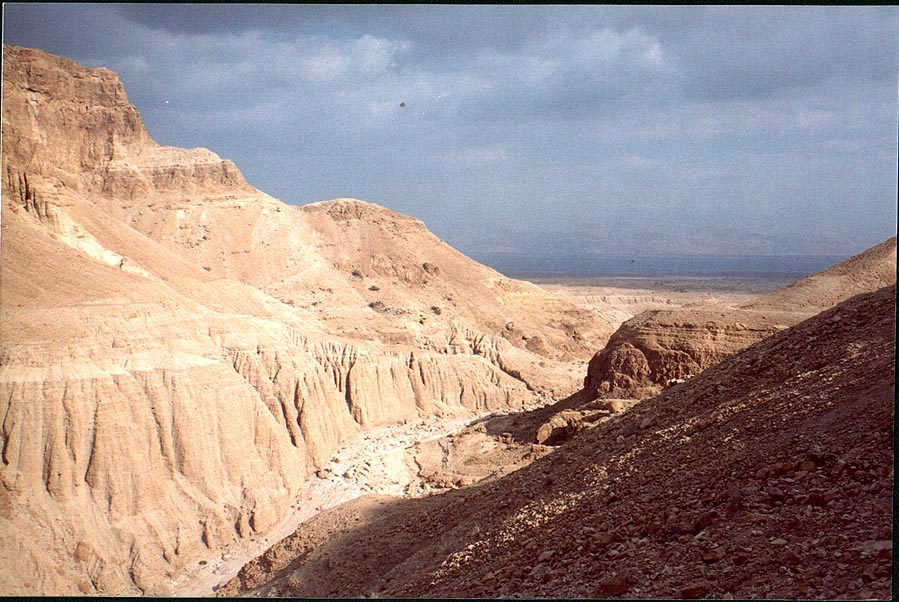 Nahal Tseelim River and Dead Sea, 2 miles north from Masada. The Middle East