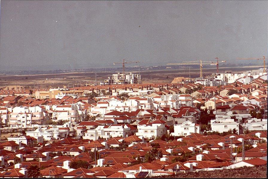 View of Ramot neighborhood of Beer-Sheva from a...Brigade Memorial. The Middle East