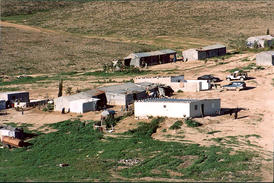 A Bedouin village in Negev Desert 2 miles north from Beer-Sheva. The Middle East