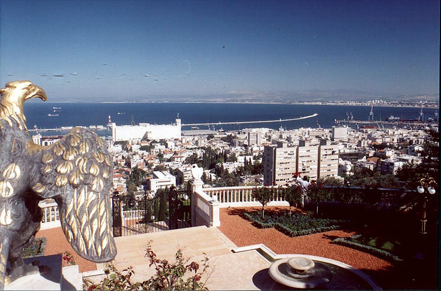 View of Haifa from Bahai Temple on Mount Carmel. The Middle East