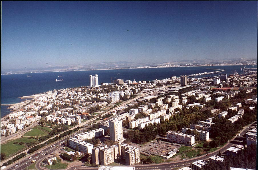 View of Haifa from Mount Carmel. The Middle East