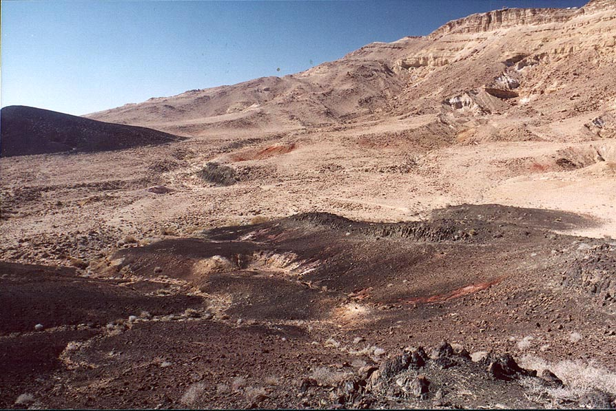 Ramon Crater, landscape below the Visitor Center. Mitzpe Ramon, the Middle East