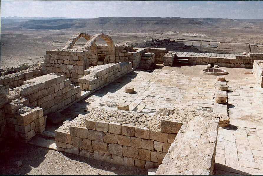 Remains of a Roman house. Avdat, the Middle East