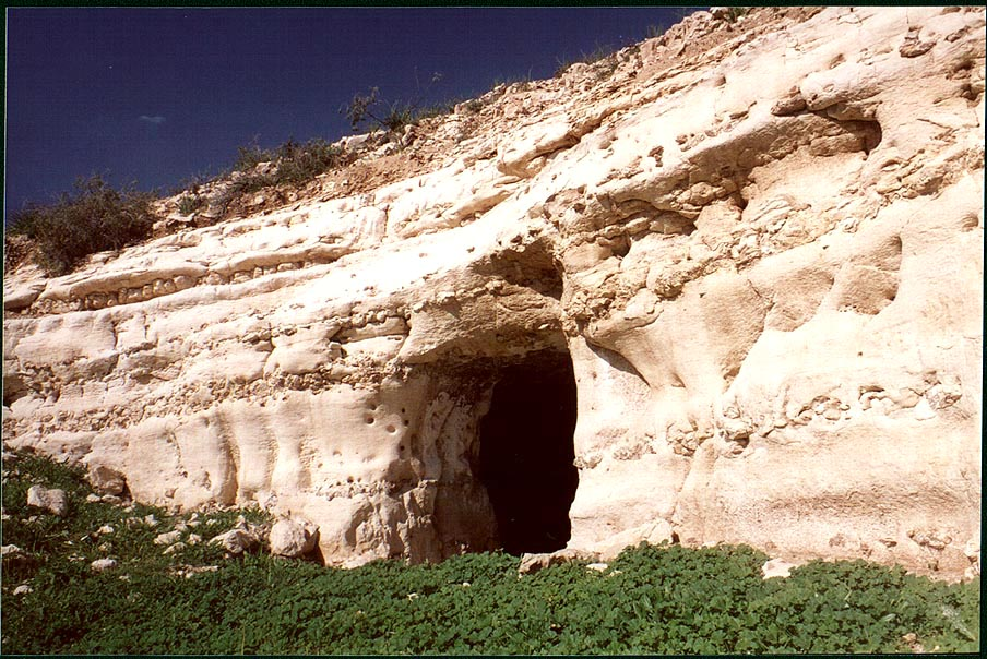 A cave (with a small pool) in Negev Desert 2 miles north from Beer-Sheva. The Middle East