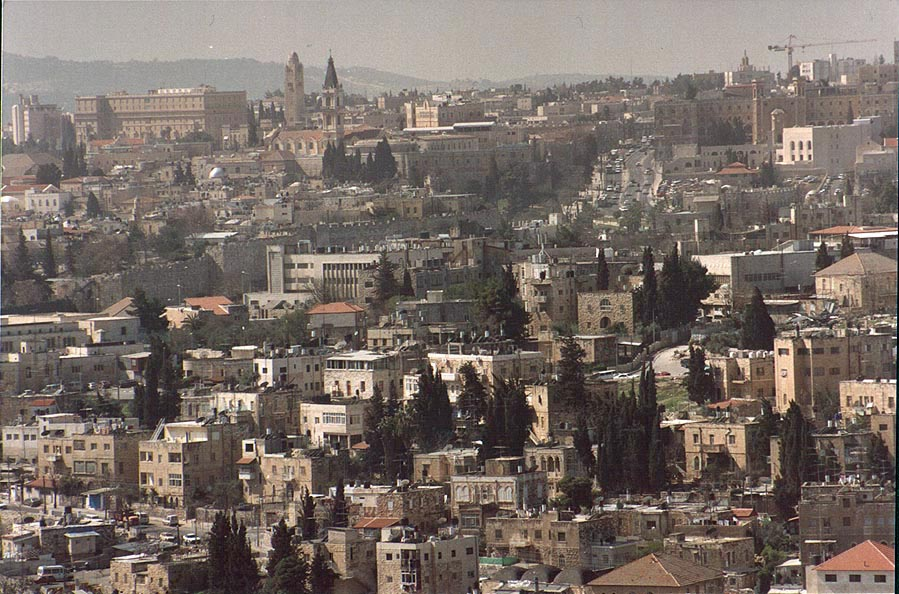 View of a neighborhood of the Old City from...Scopus. Jerusalem, the Middle East