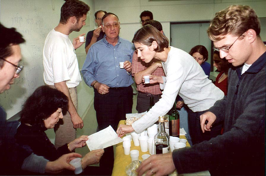 A Purim (Jewish holiday) party after a Hebrew class at BGU. Beer-Sheva, the Middle East