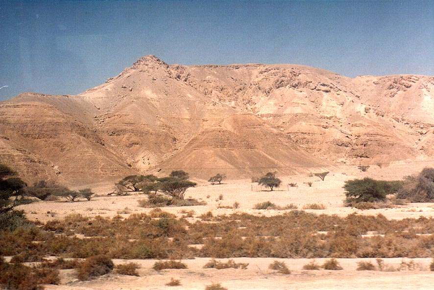 View from Arava Rd. near Qetura . The Middle East