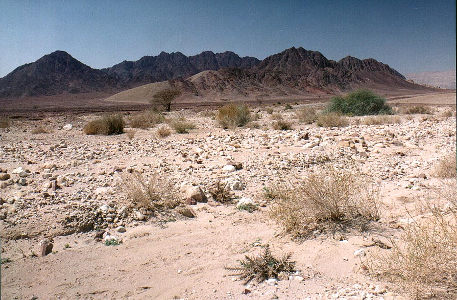 View of Timna Mountains to the south-west from...road to Timna Park. The Middle East