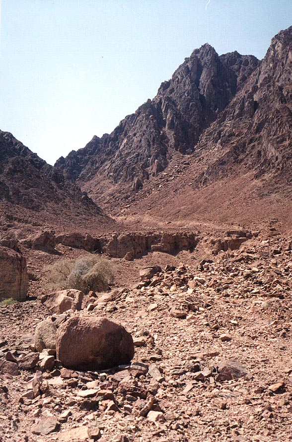 Head of Geological Trail along Alakhson creek...view to the south. The Middle East