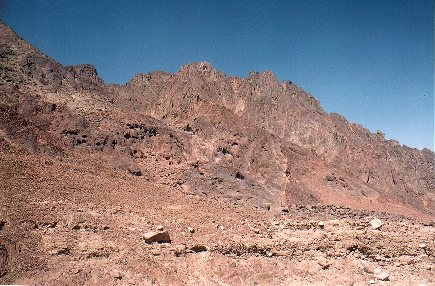 View from Geological Trail through Timna Mountains. The Middle East