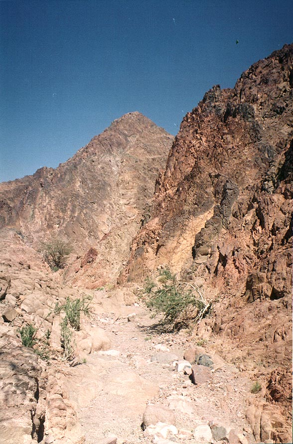 Geological Trail through Timna Mountains. The Middle East